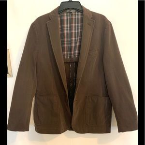 Johnston & Murphy .brown suede feel coat